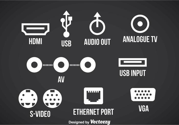 Iconos de puerto de conexión Vector