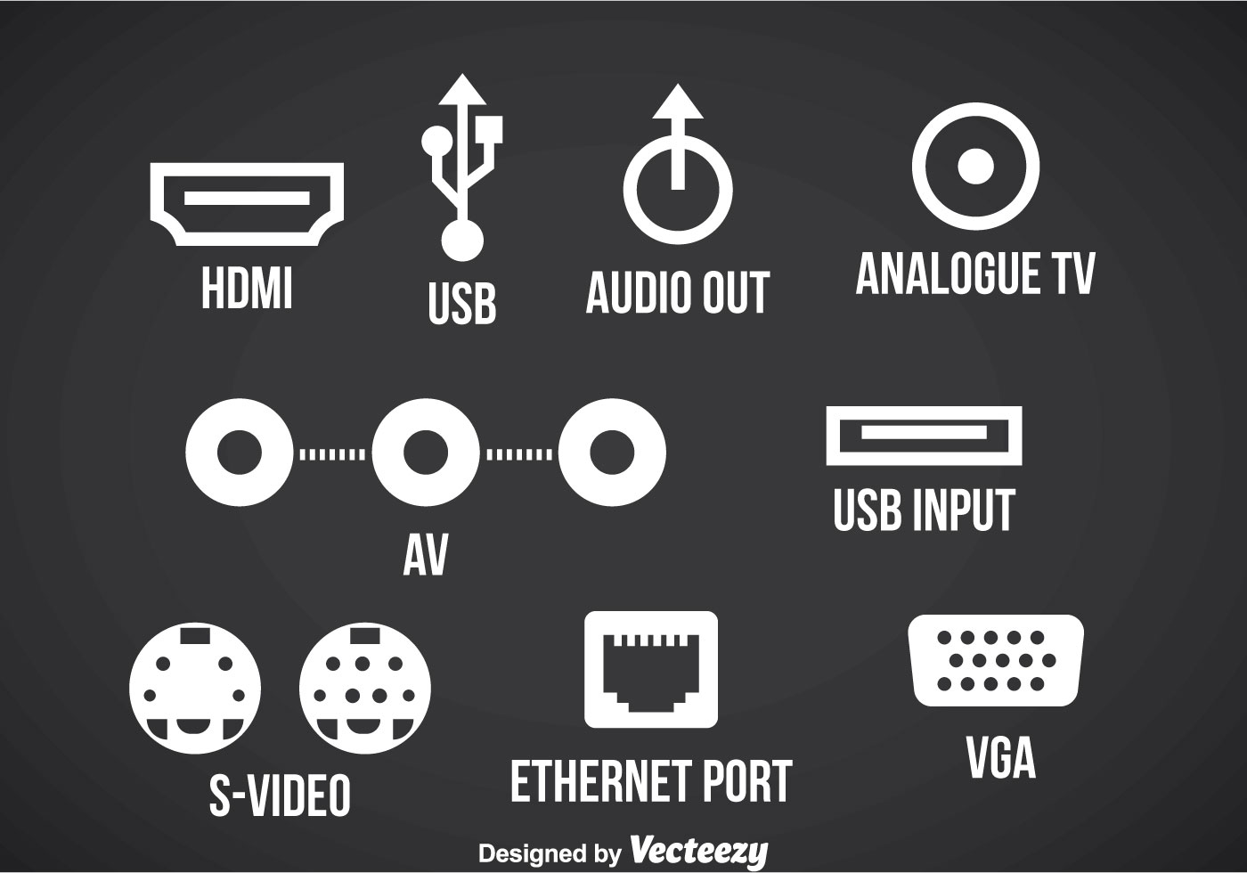 connection-port-icons-vector Usb Wire Color Code on usb cable, usb 3.0 color code, powered usb, usb power code, windows to go, usb to audio wiring, usb video device class, usb power wires, usb 3.0 front panel connector, usb on-the-go, usb flash drive, 4.7k resistor color code, usb b wiring, usb port wiring, usb implementers forum, usb 3.0 to firewire, usb cord colors, usb mass-storage device class, usb diagram, usb human interface device class, usb output, usb wiring code, usb hub, usb charger color code, data cable color code, usb 3 wires, usb pinout color, usb port color code, wireless usb, memory card reader, host controller interface, card reader, 3.3k resistor color code,