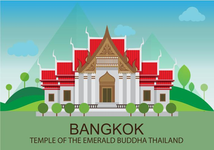 Tempel in Bangkok Illustratie