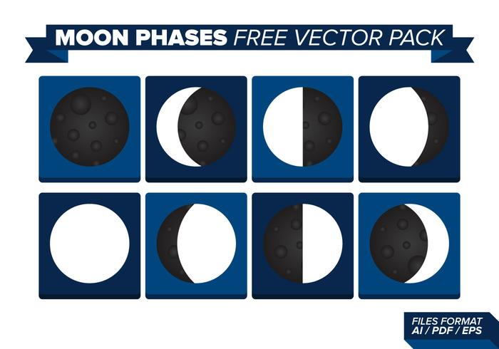 Moon Phases Free Vector Pack