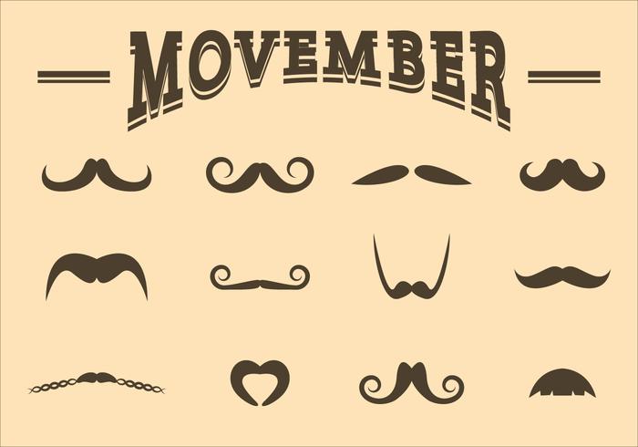 Kostenlos Movember Vector