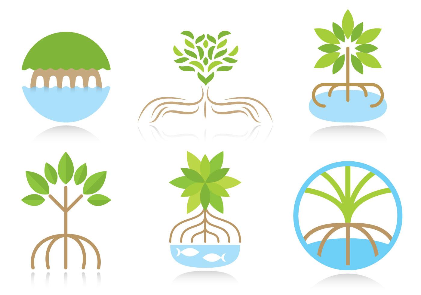 Mangrove logo vectors download free vector art stock graphics