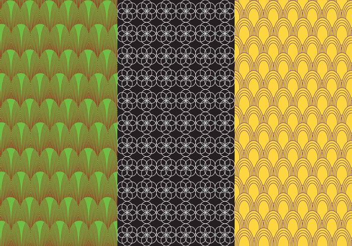 Set background bauhaus pattern vectors