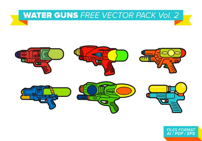 Wasserpistolen Free Vector Pack Vol. 2