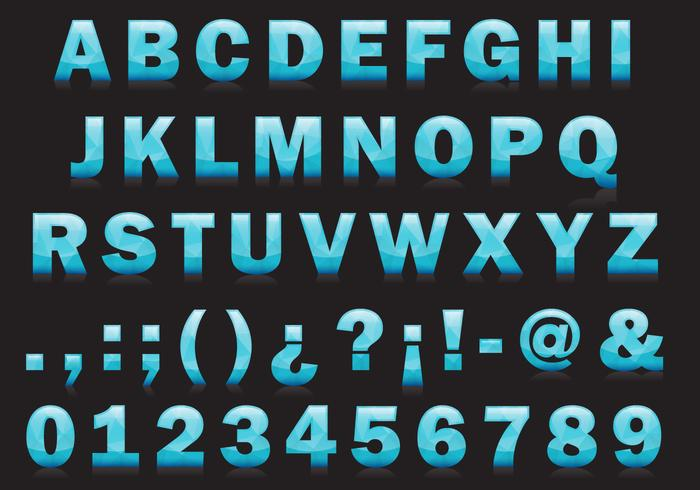 Ice Type Vector Font
