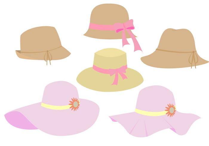 Mooie Ladies Hat Vectors