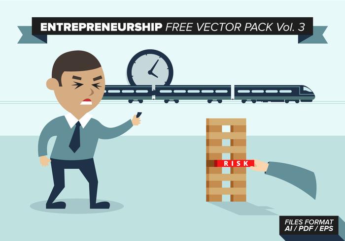 Entrepreneurship Free Vector Pack Vol. 3