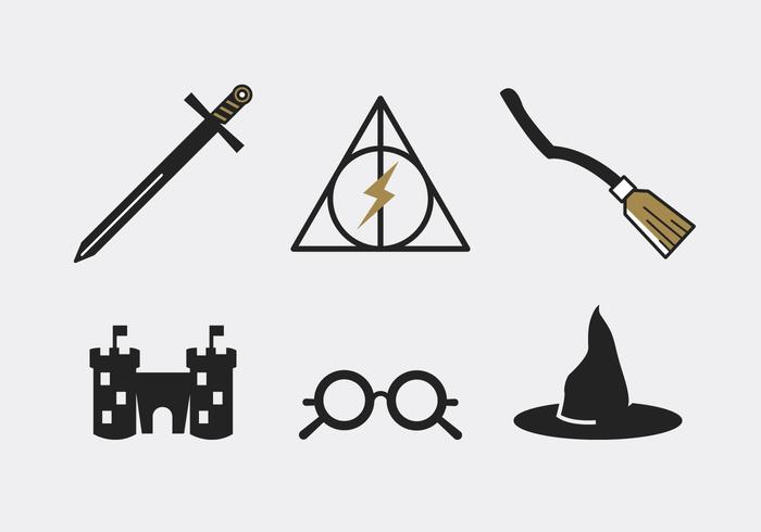 Minimal line art wizard tools vector