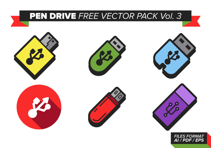Pen Drive Free Vector Pack Vol. 3