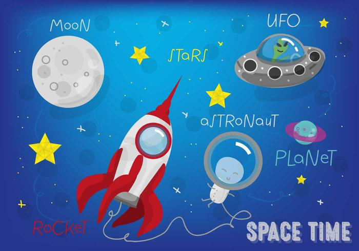 Free Space Landscape Vector