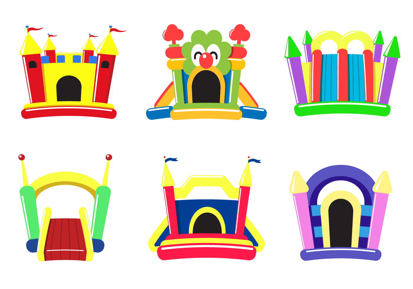 Free Bounce House Vector Download Free Vector Art Stock