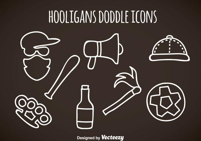 Hooligans Doddle Icons Vector