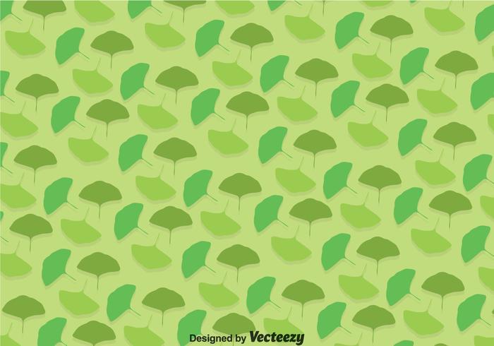 Ginko Green Leaves Pattern