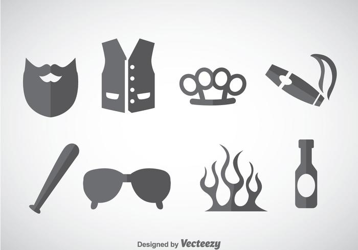 Hooligans Element Icons Vector