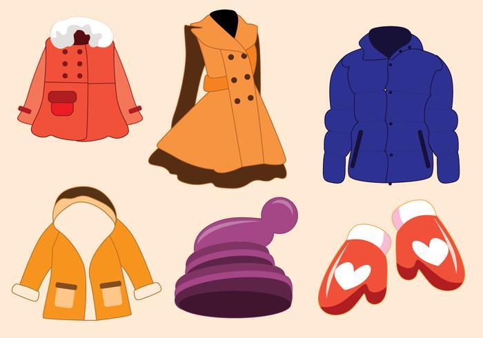 Vector abrigo de invierno