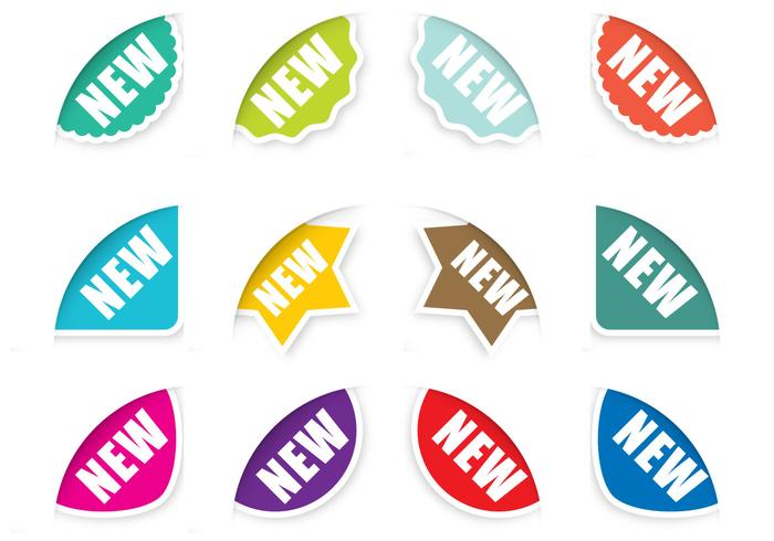 Corner Sticker Vectors