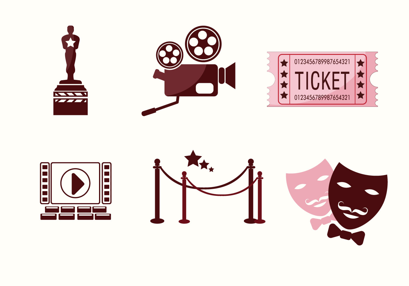Cinematography Icons Vector