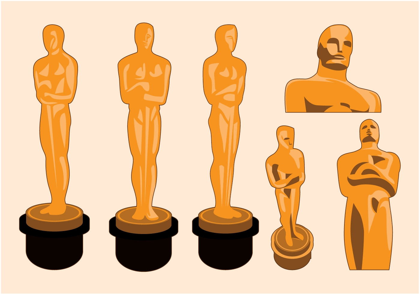 Oscar Statue Vector - Download Free Vector Art, Stock ...