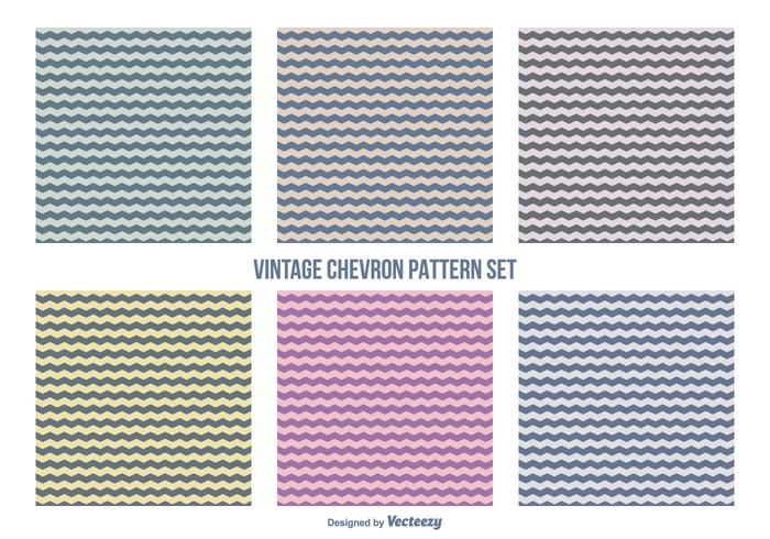 Retro Hipster Style Chevron Pattern Set