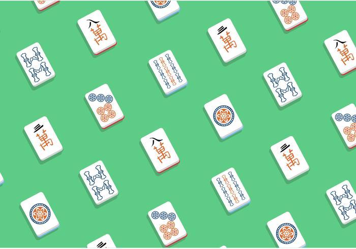 Mahjong Vector Patroon