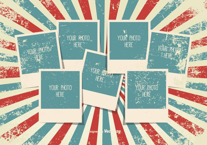 Modèle de collage photo vintage grunge
