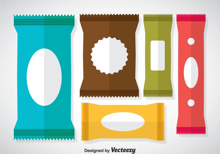 Vecteurs de sachets colorés
