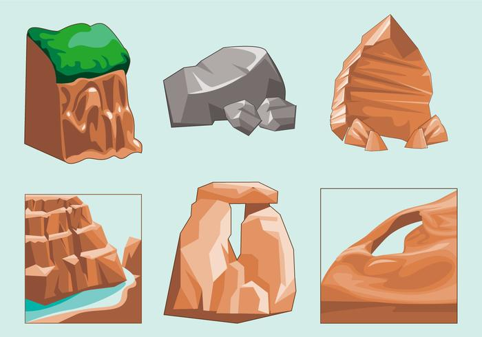 Eroded Canyon Soil Vector
