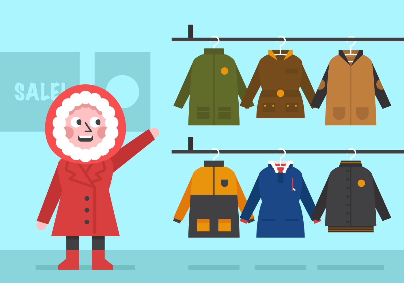 Vector Winter Coat For Girls Download Free Vector Art