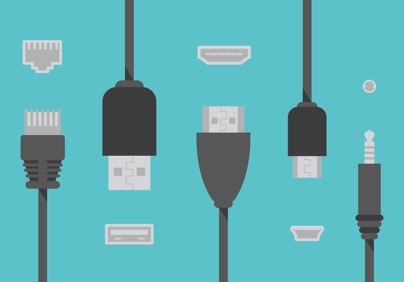 Hdmi Cable Wire Flat Illustration Vector - Download Free Vector Art ...