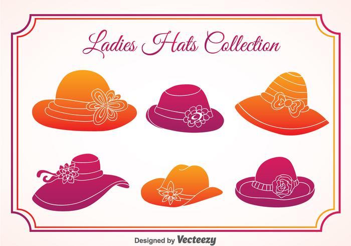 Vetor de chapéus de senhoras