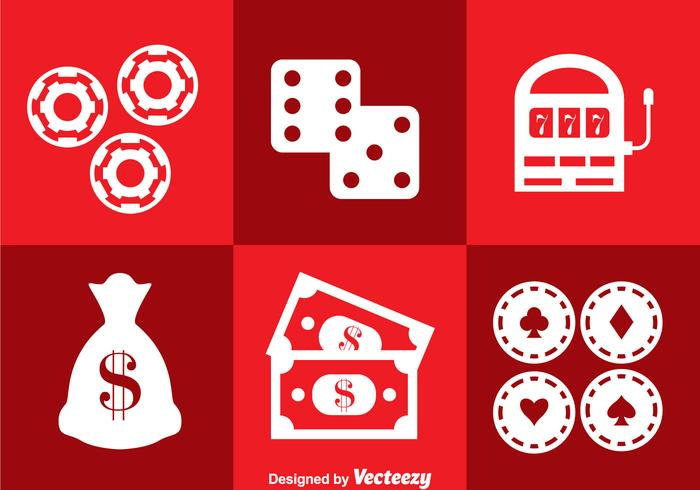 Casino Real Iconos Vector