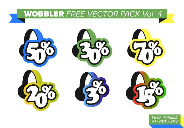 Wobbler Free Vector Pack Vol. 4