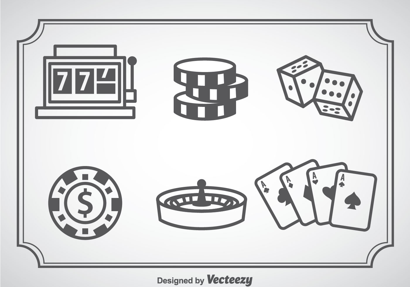 casino chips with a crown