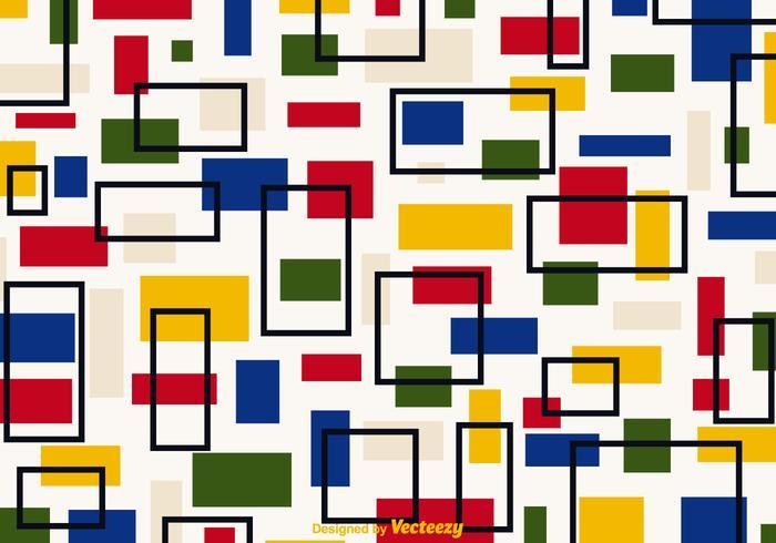 Libre retro Bauhaus Vector de fondo