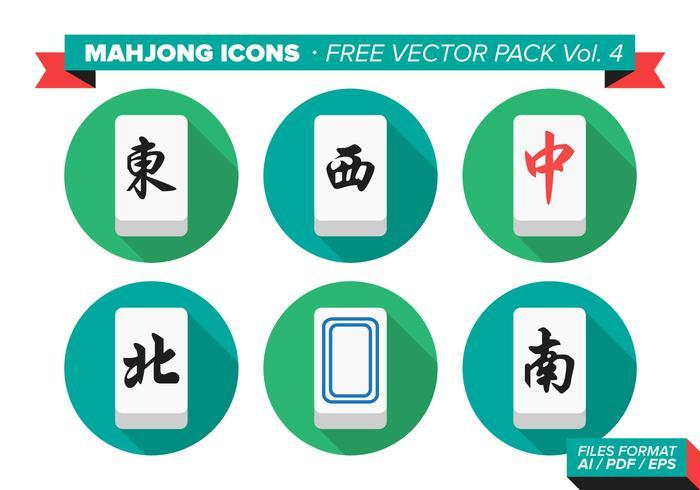 Mahjong Pictogrammen Gratis Vector Pack Vol. 4