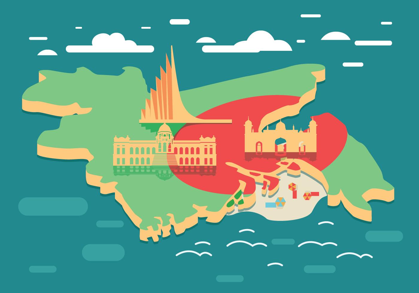 bangladesh map vector