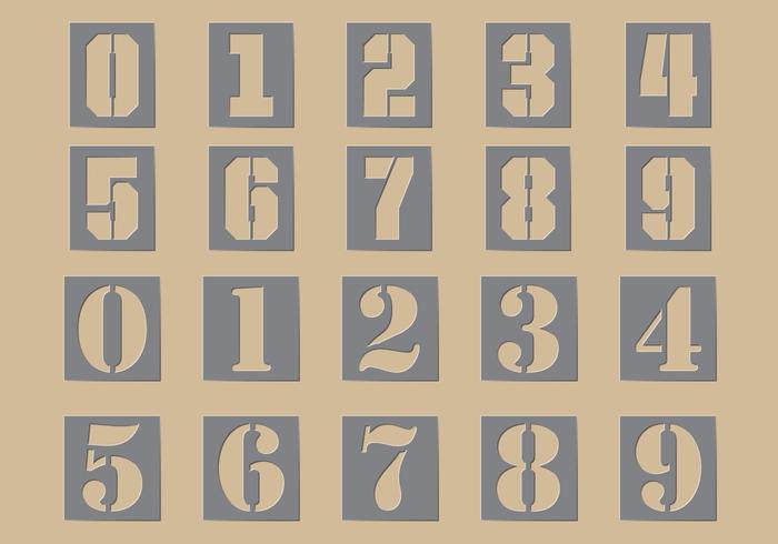 Stencil getalvectoren