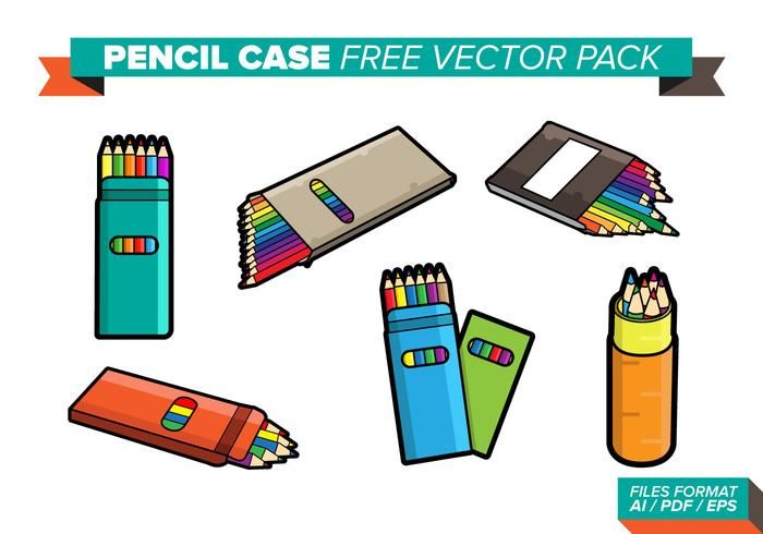Pencil Case Free Vector Pack