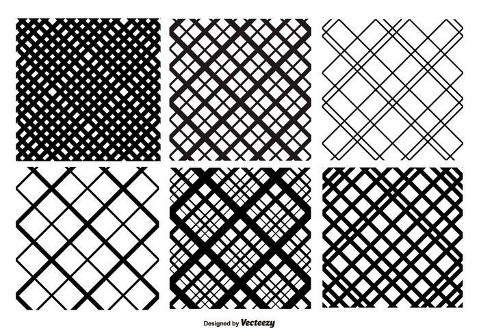 Crosshatch Vector Patroon Set