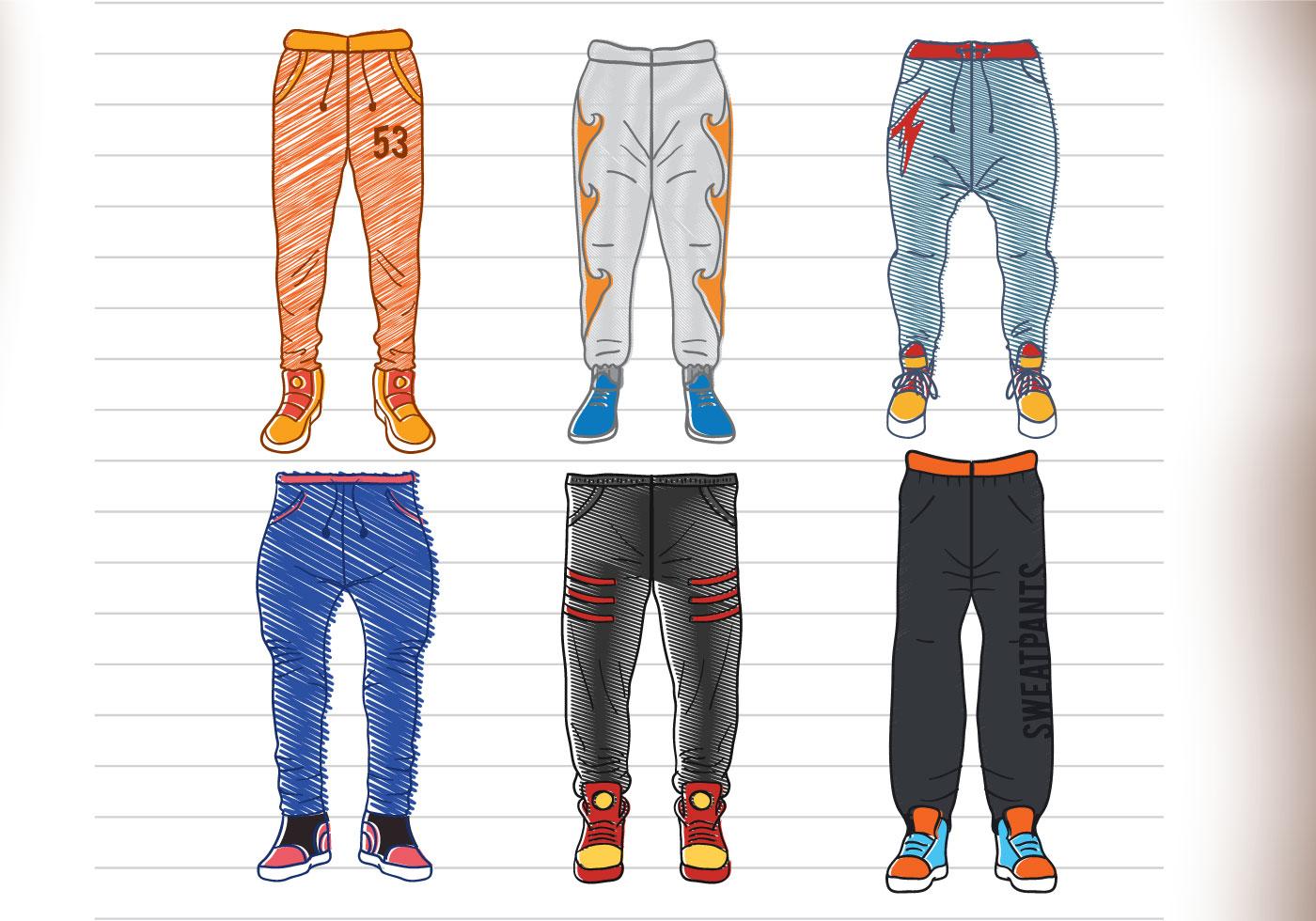 Спортивные штаны рисунок