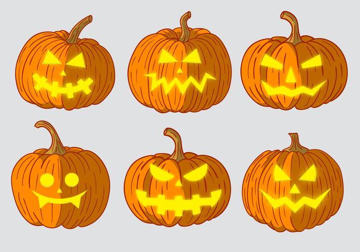 Scary Pumpkin Head Vectors
