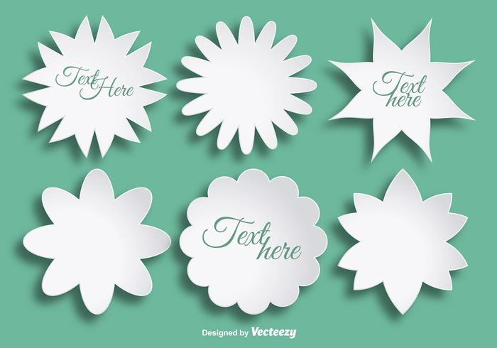 Abstract paper flowers for text