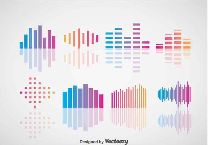 Geluidsbars vector sets
