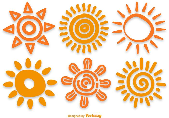 Hand Drawn Sun Vectors