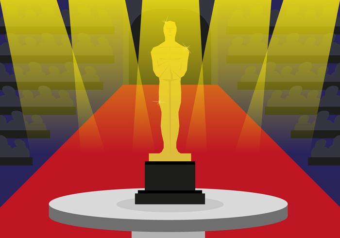 Oscar Statue Auszeichnungen Illustration Vektor