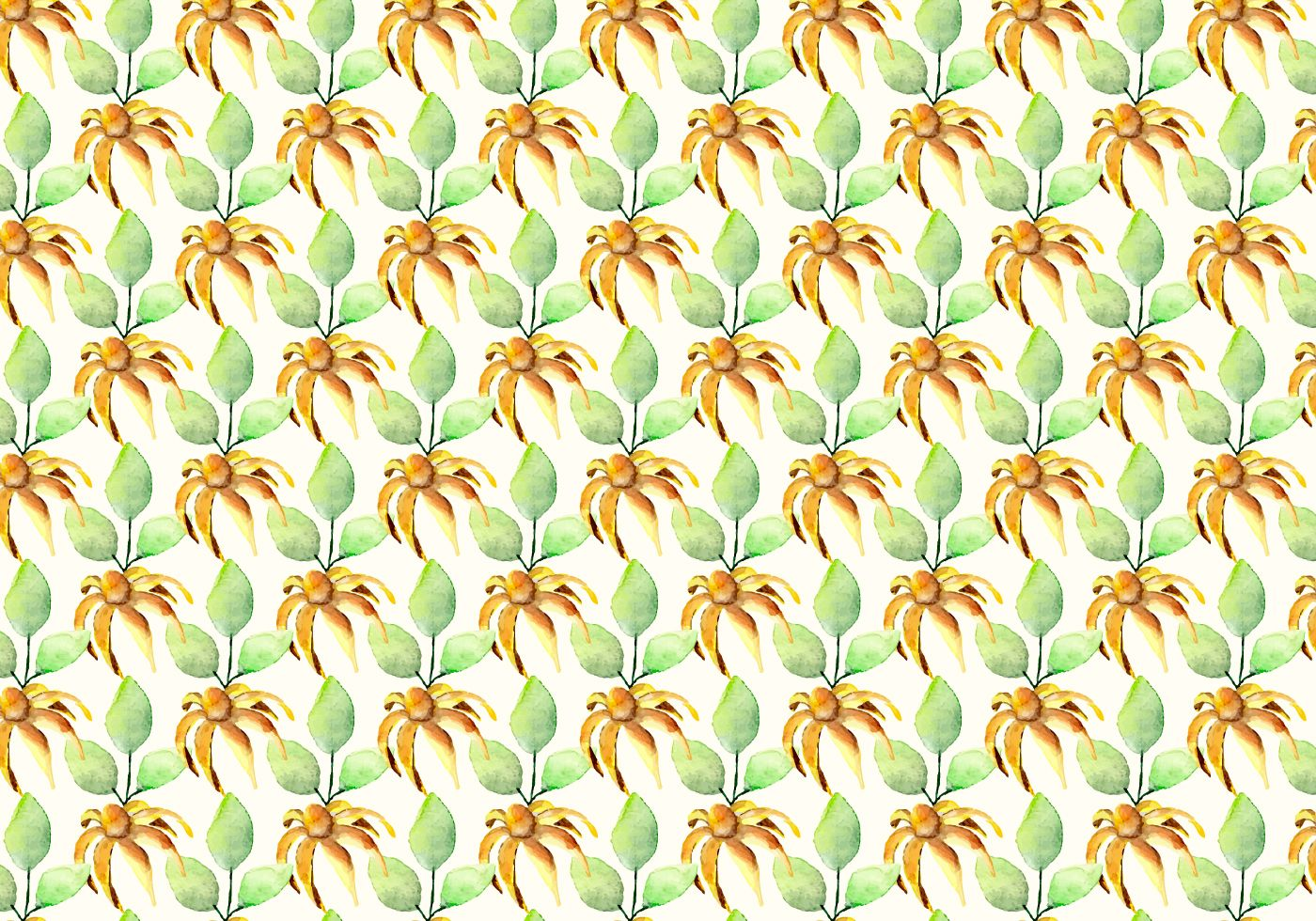 Free Vector Watercolor Summer Pattern Download Free