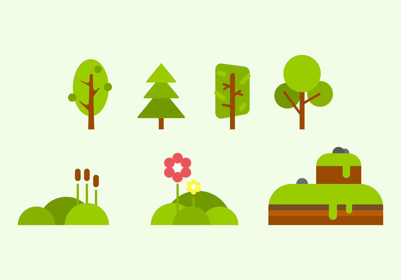 Download Free Vector Art Stock: Free Green Nature Vectors