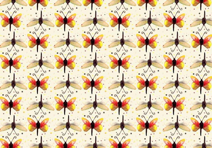 Free Vector Watercolor Butterfly Pattern