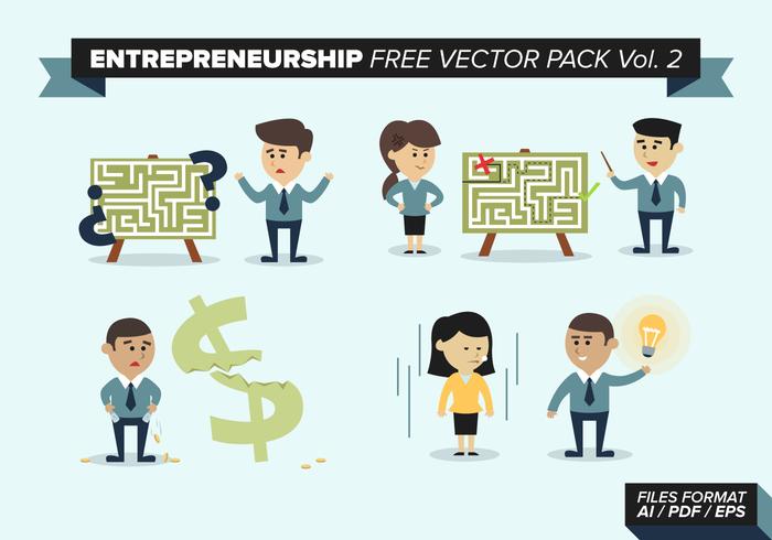 Ondernemerschap Gratis Vector Pack Vol. 2
