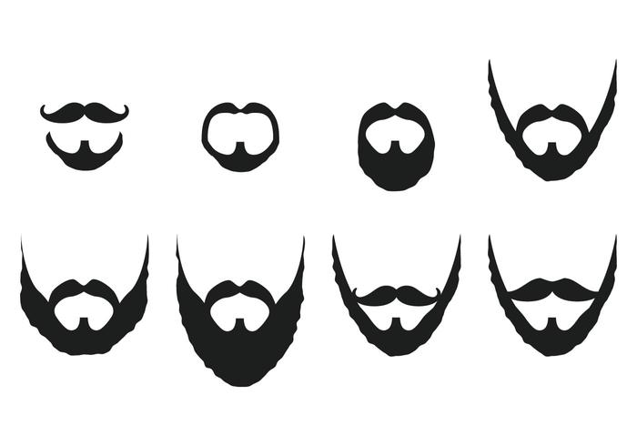 Mustache And Beard Vectors